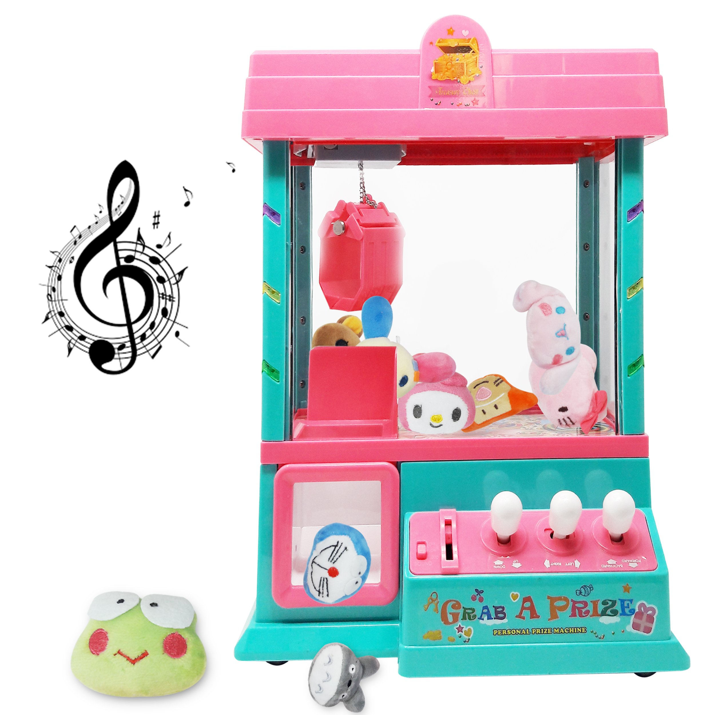 Claw Home Arcade Game Prize Grabber Carnival LED Lights Animation Adjustable Sounds USB Port Cable with 10 Plush Toys and 12 Filled Eggs by TSF TOYS (Image #6)