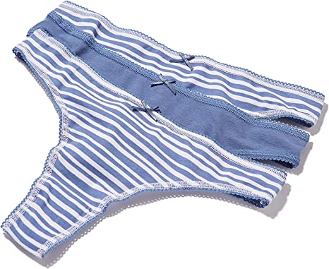 Iris /& Lilly Womens Cotton Thong Pack of 3 Brand
