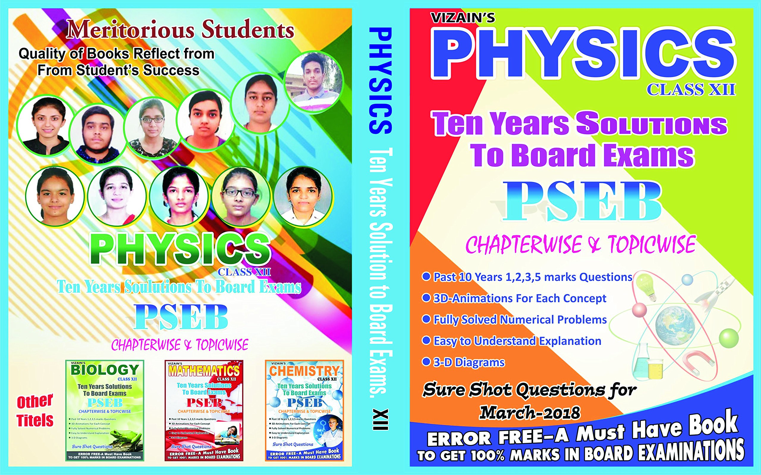Buy 10 Years Solutions To Punjab Board Exams-12th Class