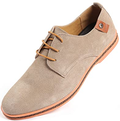 aa22014ac9476f Marino Suede Oxford Dress Shoes for Men - Business Casual Shoes (Hazel  Wood