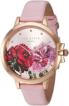 8c6e85151 Image Unavailable. Image not available for. Color  Ted Baker Female     Ruth  Stainless Steel Quartz Watch with Pink Strap