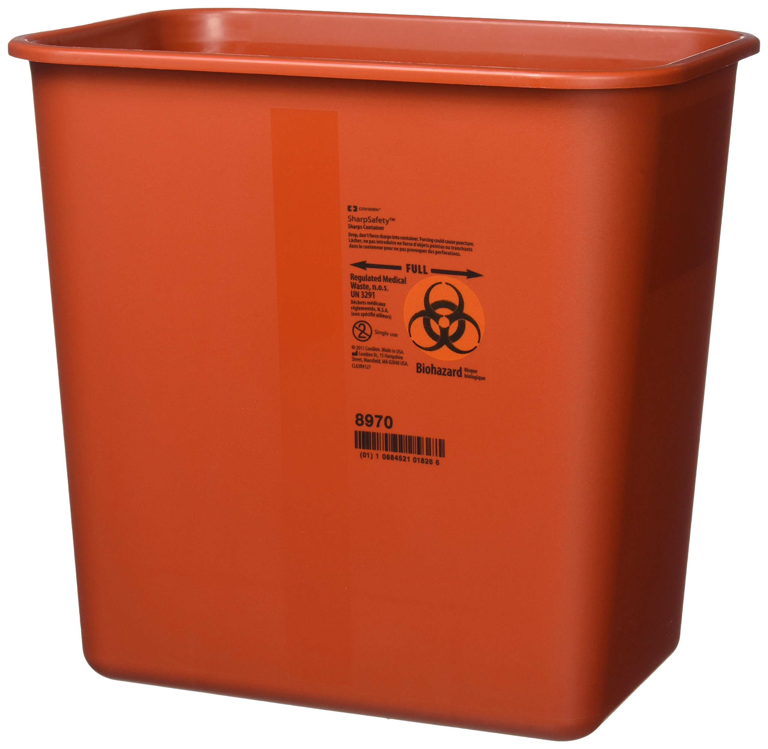 Kendall Sharps Container with Rotor Lid - 2 Gallon - Pack of 3