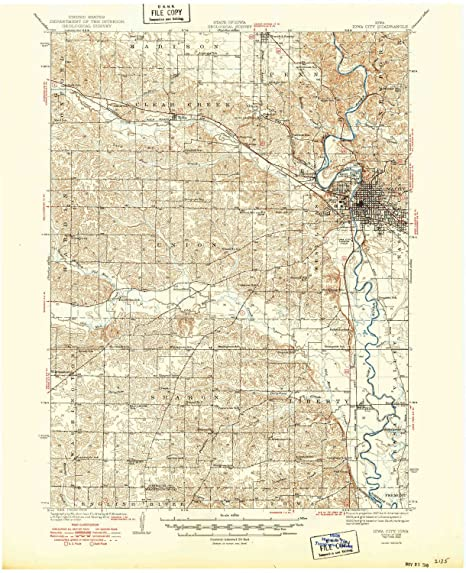 Amazon Com Yellowmaps Iowa City Ia Topo Map 1 62500 Scale 15 X 15