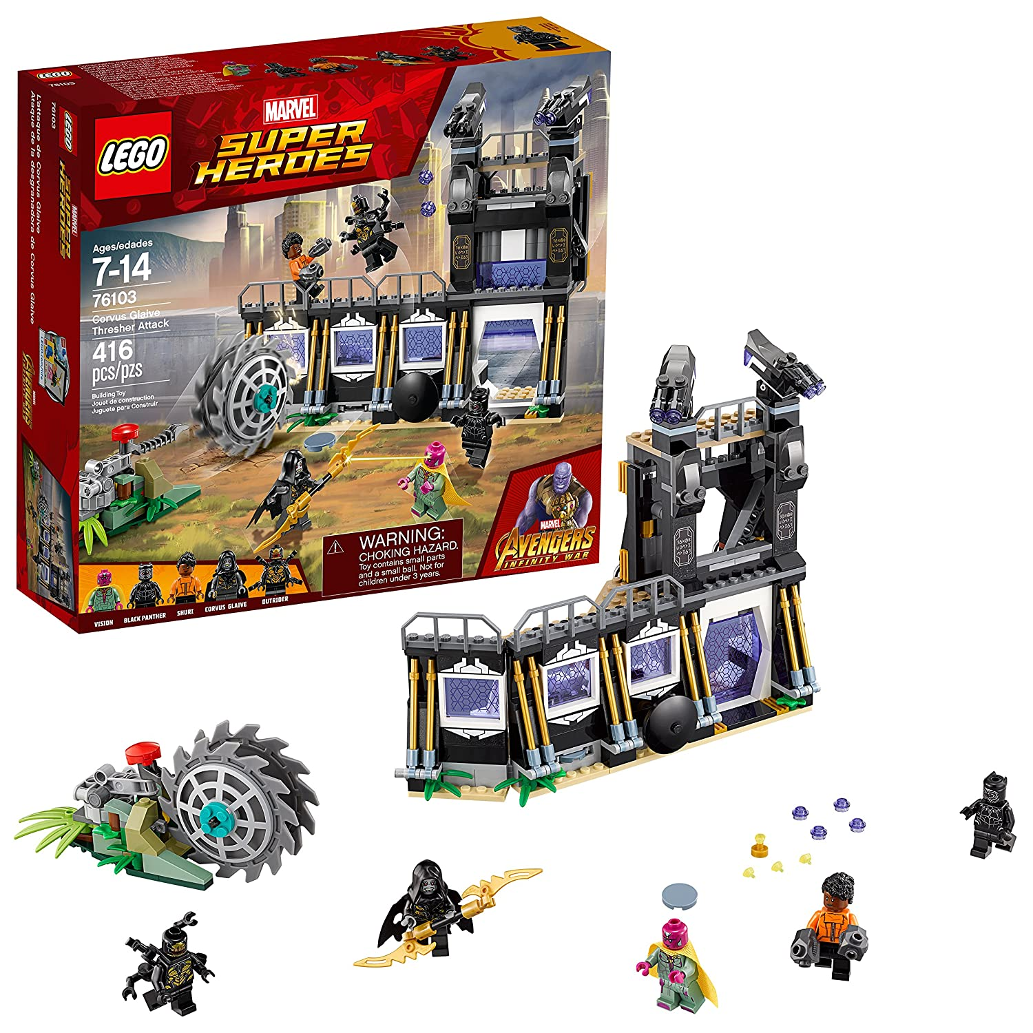 LEGO Marvel Super Heroes Avengers: Infinity War Corvus Glaive Thresher Attack 76103 Building Kit (416 Piece) 6212648