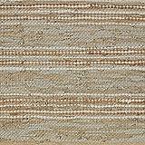 "Stone & Beam Striped Leather Runner Rug, 2' 6"" x"