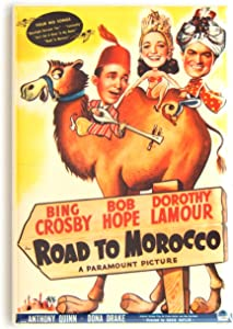 Road to Morocco Movie Poster Fridge Magnet (2 x 3 inches)