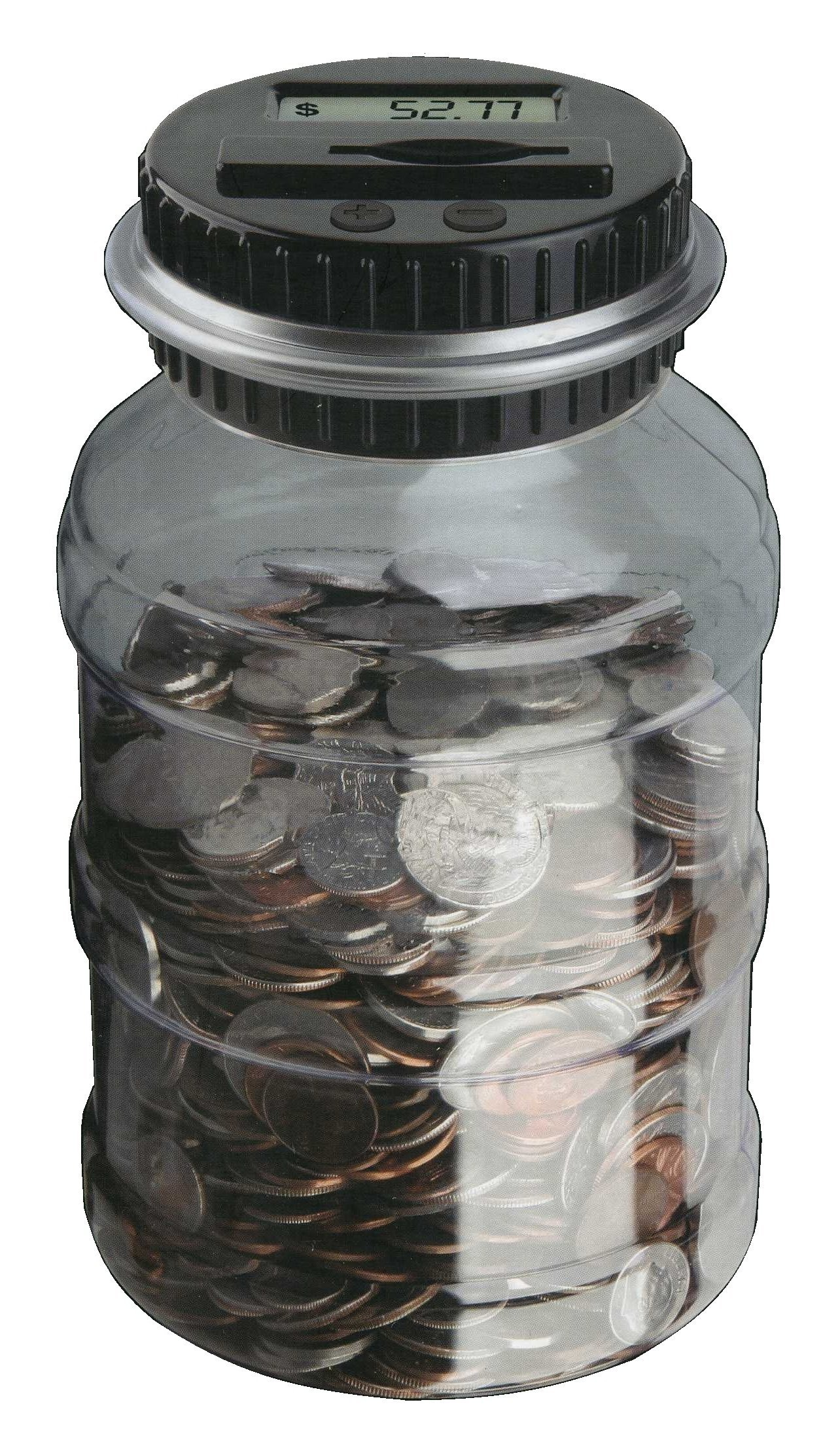 The Black Series Digital Counting Money Jar (clear) by Shift3 (Image #3)