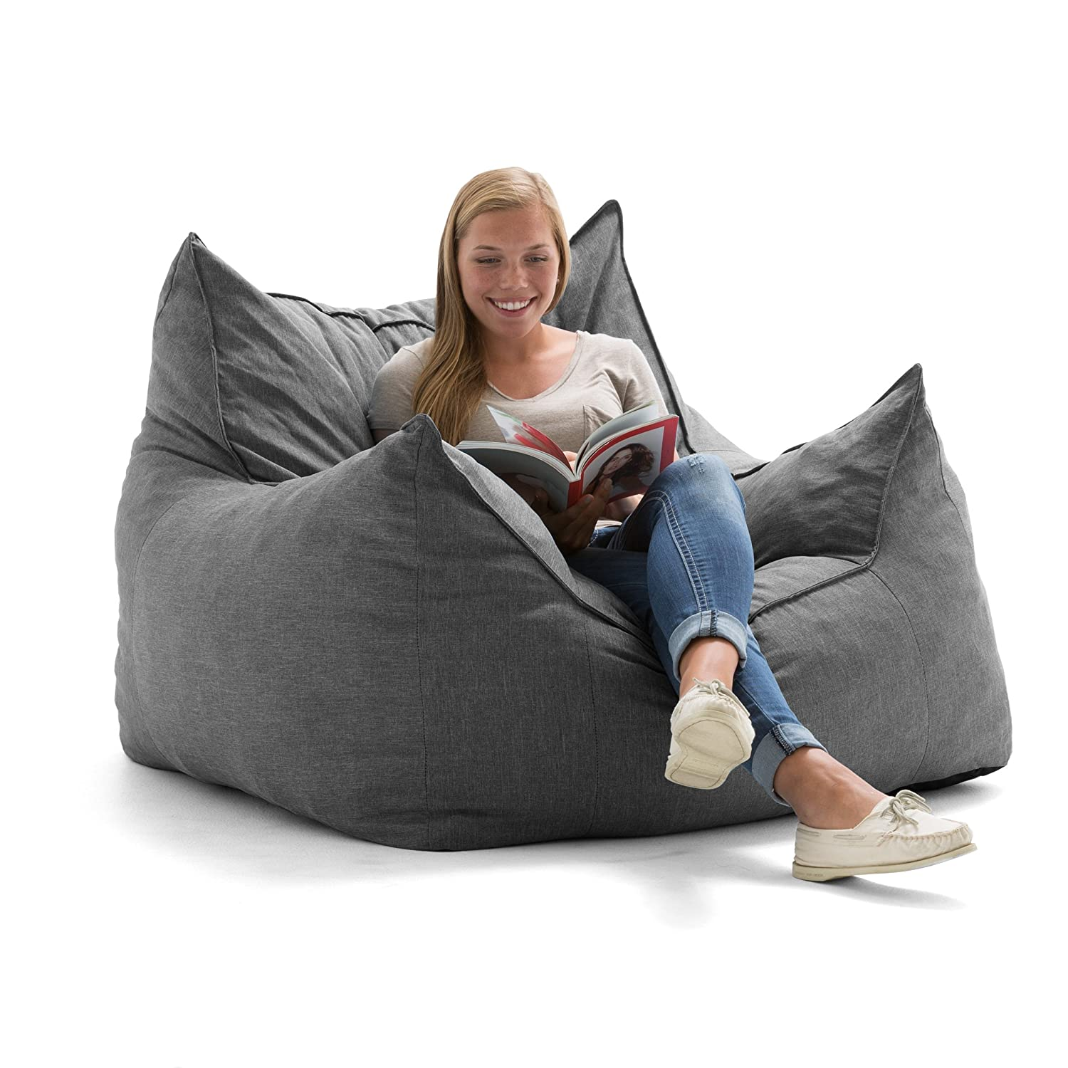 Big Joe Lux Imperial Lounger in Union, Pecan Comfort Research 0551476