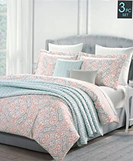 Superieur Cynthia Rowley Bedding 3 Piece Full / Queen Duvet Cover Set Geometric  Moroccan Boho Ethnic Lattice
