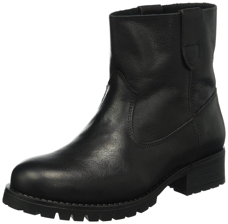 Pieces Psvaha Leather New Boot Black, Náuticos para Mujer Negro (Black)