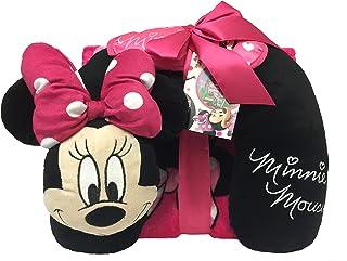 Disney Minnie Mouse 3pièces Set de Voyage avec Couverture de 101,6x 127cm, en Peluche Oreiller Tour de Cou, et Masque pour Les Yeux (Produit Officiel) 6x 127cm Jay Franco and Sons Inc. JF16968ECD