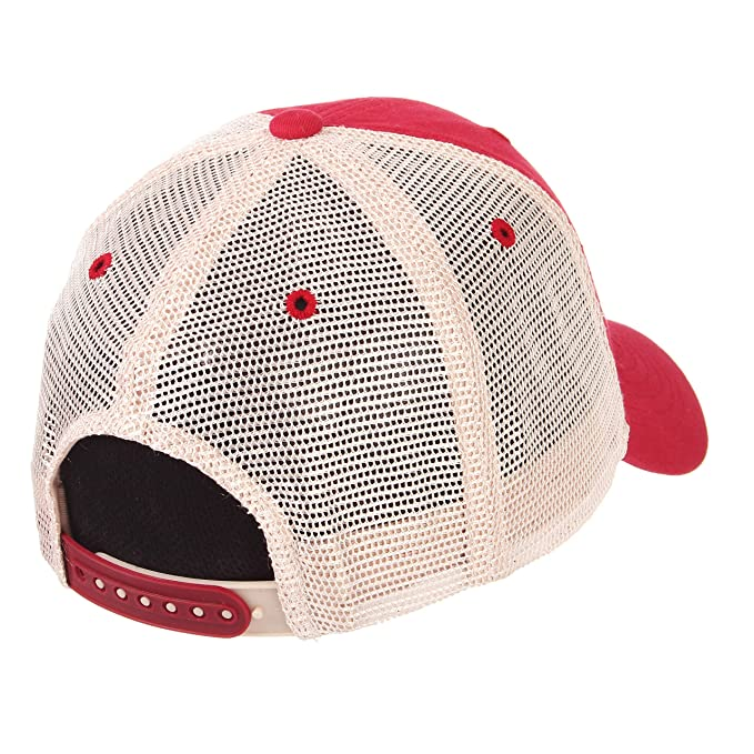 378bef04d2b Amazon.com   ZHATS Alabama Crimson Tide A Red University Mesh Trucker Adult  Mens Boys Unstructured Relaxed Adjustable Baseball Cap Hat   Sports    Outdoors