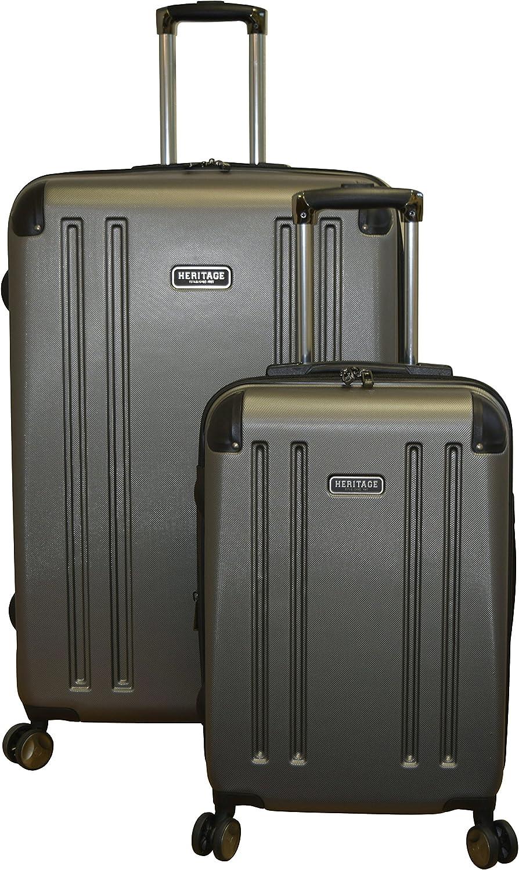 Silver Heritage OHare Lightweight 2-PC 8-Wheel Hardside Spinner Luggage Set