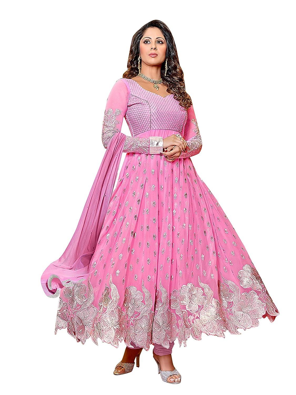 Amazon.com: Vibes Women\'s Designer Pure Georgette Dress Materials ...