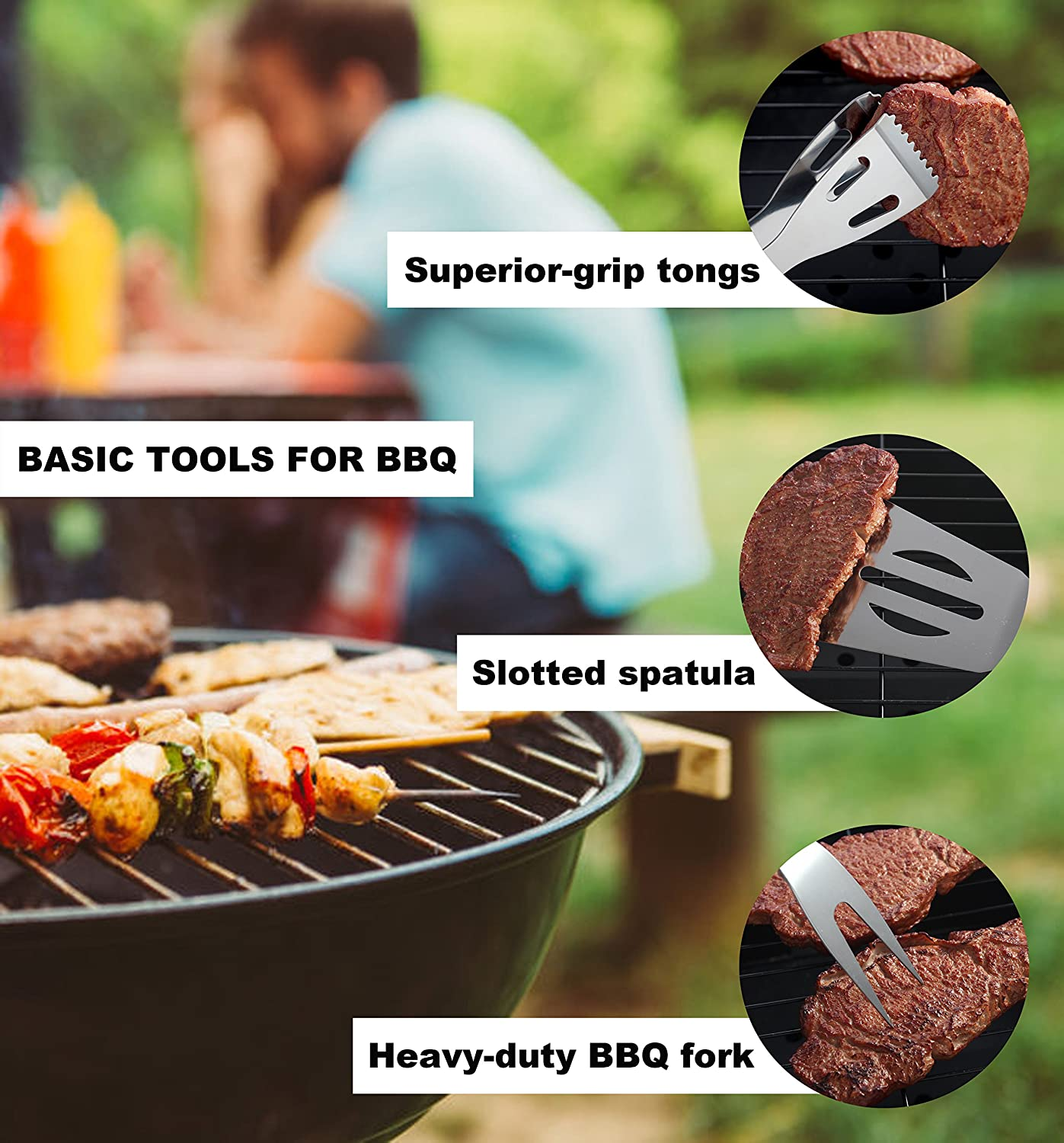 Great Grill Gift Set for Men Dad on Fathers Day ROMANTICIST 20pc Heavy Duty BBQ Grill Tool Set with Cooler Bag Outdoor Camping Tailgating Barbecue Grill Accessories in Aluminum Case