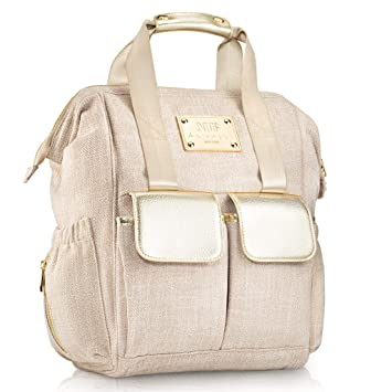 fcf853190d5f8 Designer Diaper Bag Backpack by MB Krauss - Large Women s Diapering  Backpack with Multiple Pockets