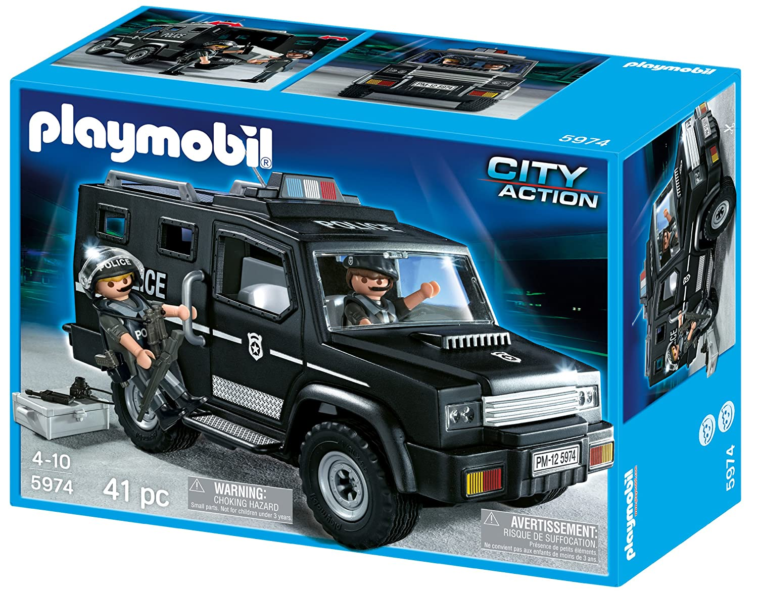 amazon com playmobil tactical unit car discontinued by