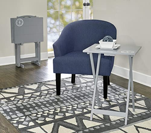 Linon Home D cor SAMM TV, Gray Tray Table Set,