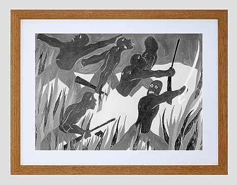 PAINTINGS PORTRAIT JEAN FRANCOIS BLACK REBEL HAITI FRAMED ART PRINT B12X9893