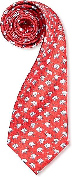 Lester Corbata Elefantes Pelota Rojo/Blanco: Amazon.es: Ropa y ...