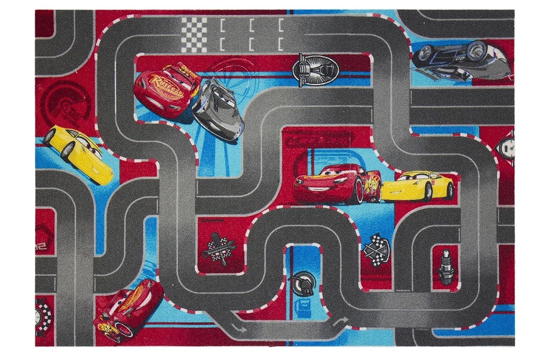 Cars 640019 Tappeto da Pavimento, in Velluto, Colore: Rosso/Grigio, Dimensioni: 133 x 95 x 1,5 cm Cars 640019Tappeto da Pavimento Dimensioni: 133x 95x 1 5cm Associated Weavers