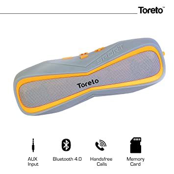 Toreto Exclusive AQUA-TBS 325, With Latest IPX-7 Waterproof Standard Technology, Portable Bluetooth Shower Speaker With Mic, Wireless Stereo with 4 Ho at amazon