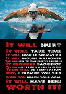 PICTURE IT WILL HURT... TENNIS MOTIVATIONAL QUOTE SIGN// POSTER PRINT