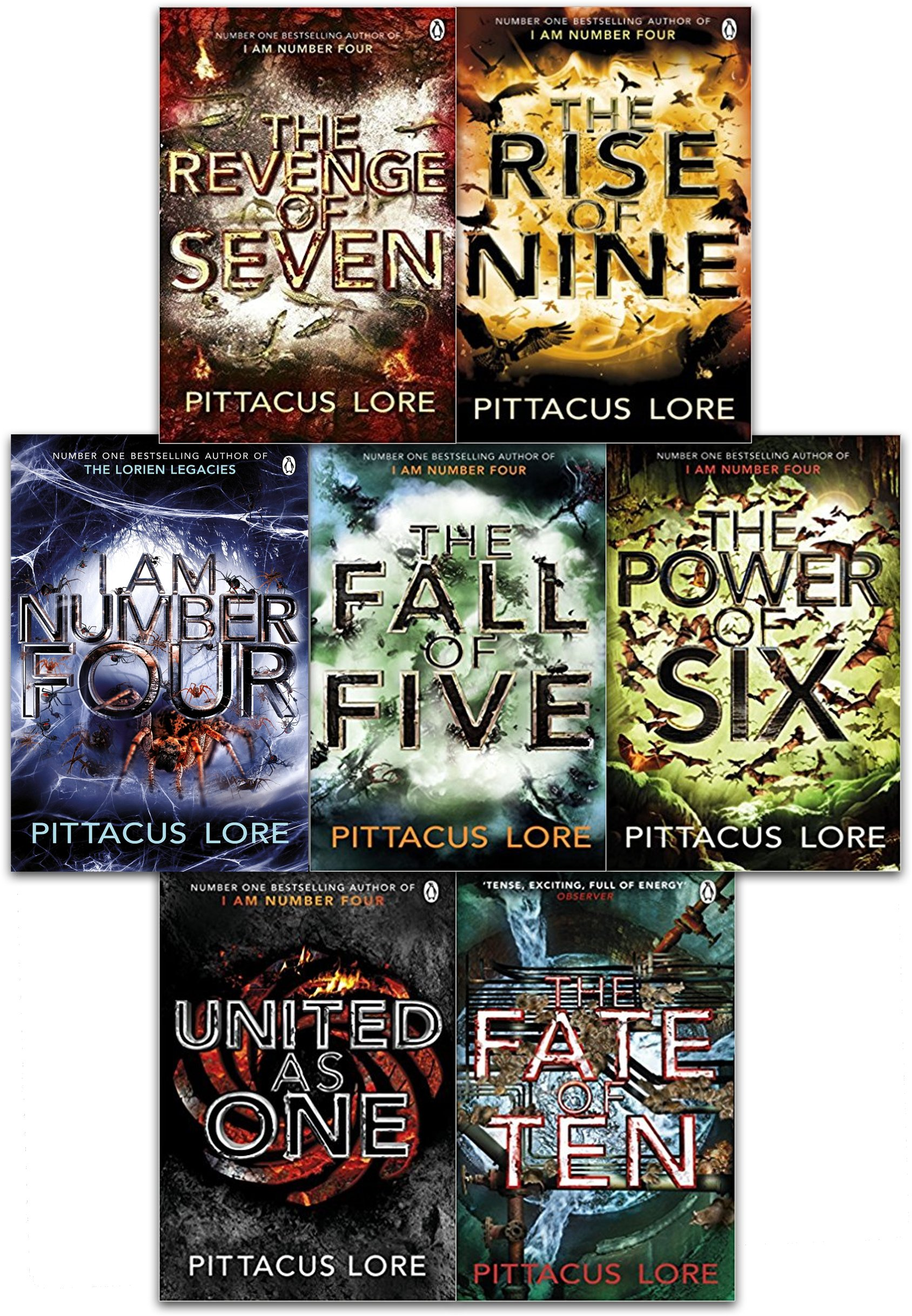 Lorien Legacies Series 7 Books Collection Set By Pittacus Lore I