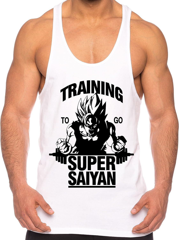 THE LION Goku Super Saiyan Camicia Muscolare Canotta da Uomo One Goku Dragon Master Son Ball Vegeta Turtle Roshi Piece Gym
