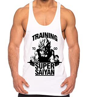 THE LION Goku Super Saiyan de los Hombres Camisa del músculo One Goku Dragon Master Son