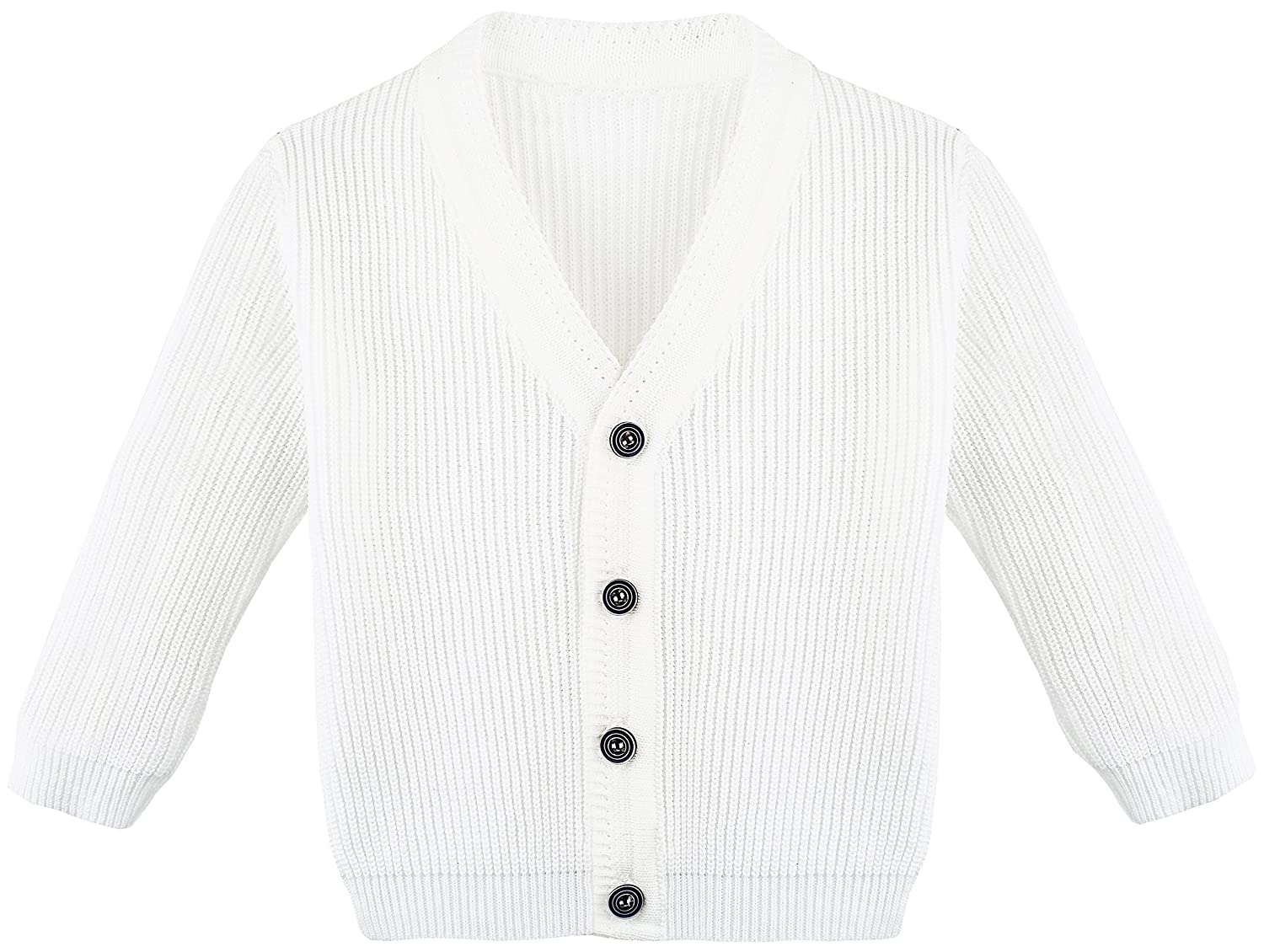 Lilax Little Boys Basic Long Sleeve V-Neck Classic Knit Cardigan Sweater