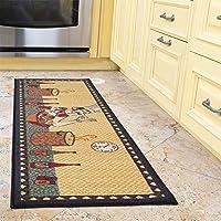 """Ottomanson siesta collection runner rug, 20"""" X 59"""", Beige Kitchen Chef"""
