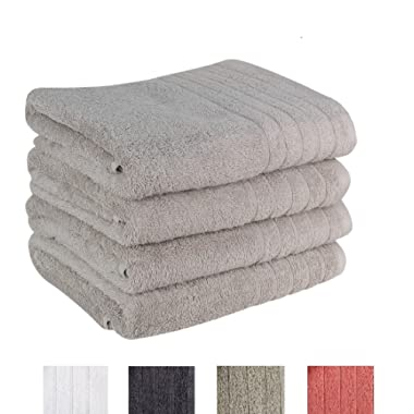 Avira Home Premium Bath Towel Set (Pack of 4, 27  x 49 ) 100% Ring-Spun Cotton Towels for Hotel - Spa, 600 GSM, Soft, Highly Absorbent, Machine Washable