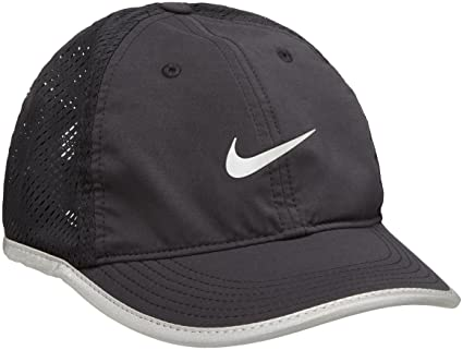 Nike W'S Run Knit Mesh Cap - Gorra para Mujer, Color Negro, Talla Única