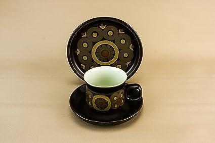 Set di 4 persone stile vintage coffee cup plate denby piattino in