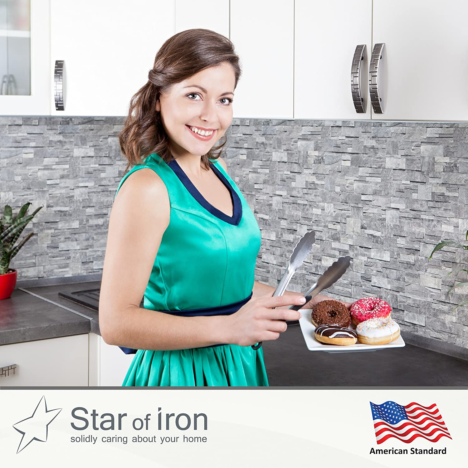 tongs by star of iron kitchen tongs set of 2 serving