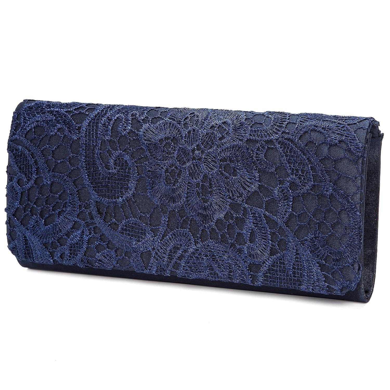 Lifewish Bolso de boda nupcial elegante del monedero de la boda del cordón de las mujeres(azul marino): Amazon.es: Zapatos y complementos