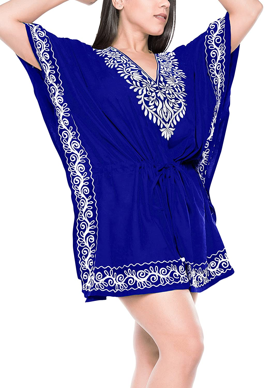 La Leela SWIMWEAR レディース B07BL1FCST OSFM 14-32 [L-5X] Royal Blue_3034