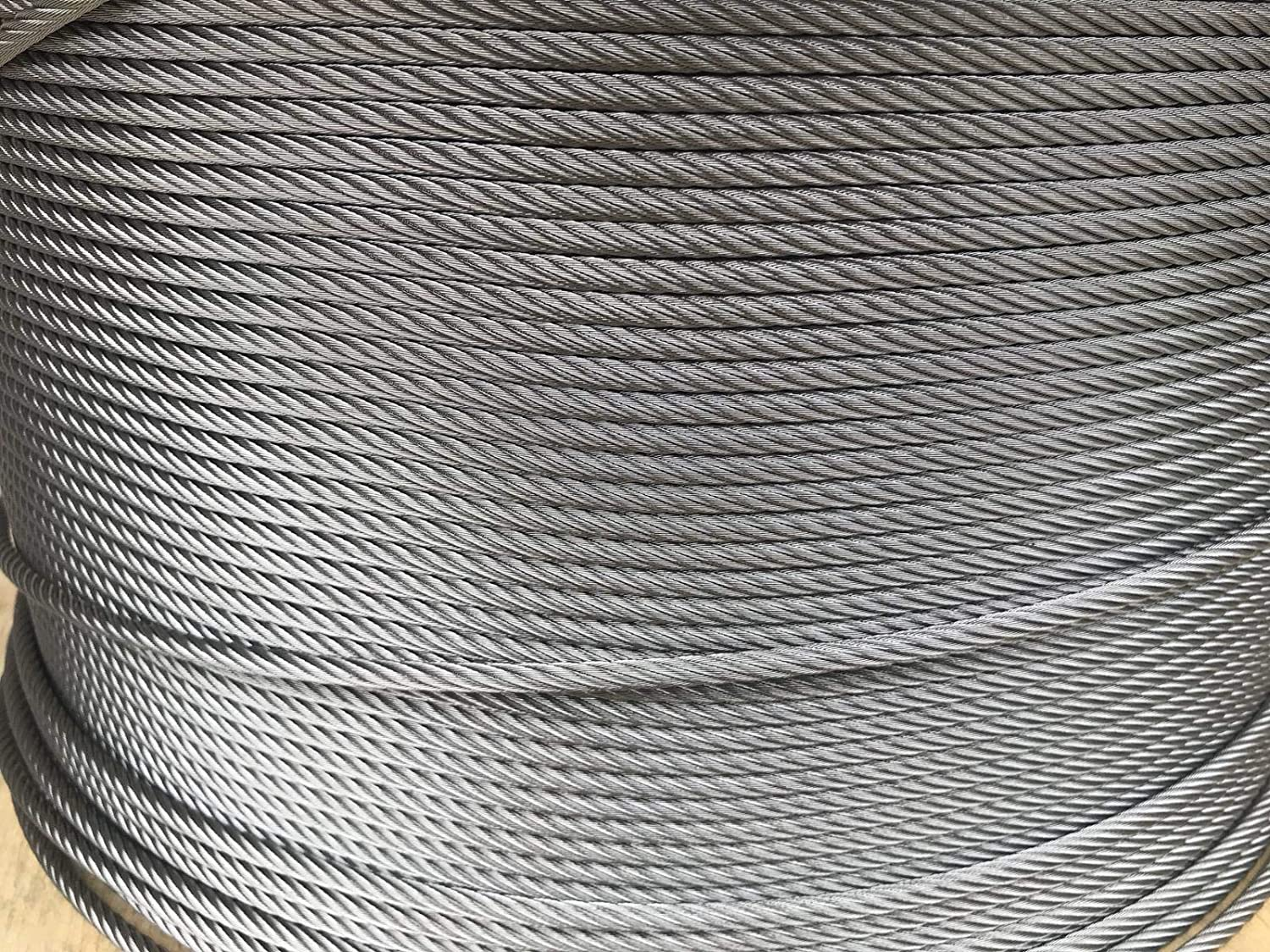 3//8 Galvanized Aircraft Cable Steel Wire Rope 7x19 250 Feet