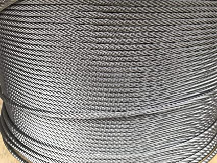"""25 ft 304 Stainless Steel Wire Rope Cable 3//16/"""" 7x19"""
