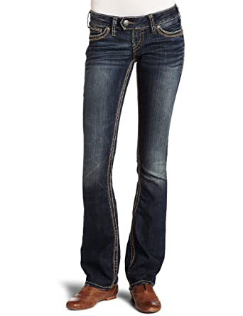 Amazon.com: Silver Jeans Juniors Tuesday 16.5 Baby Bootcut Jean ...