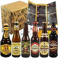6 Bières de France et du Monde avec Guide de Dégustation- Cadeau idéal - 6 * 33cl - Port gratuit