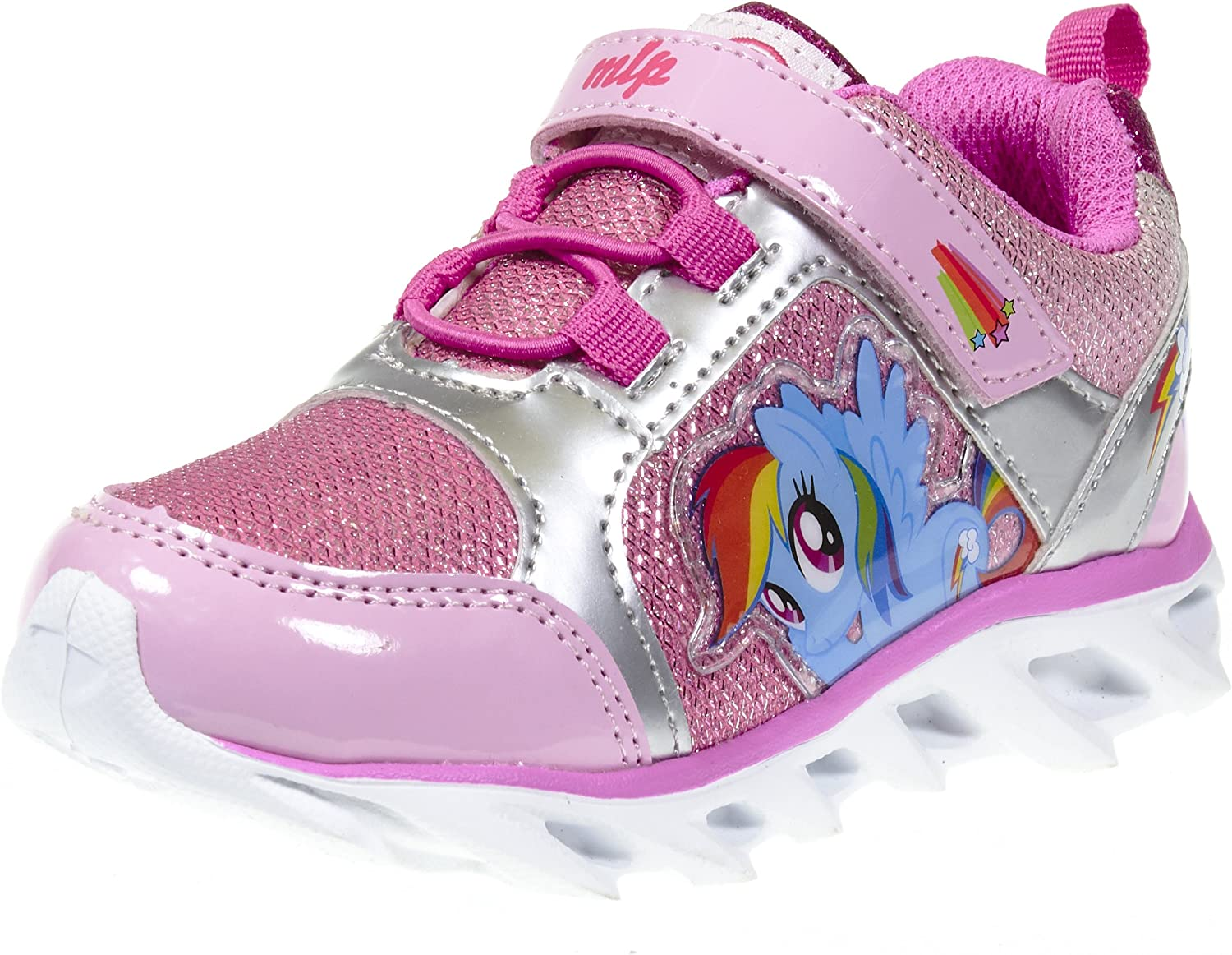 My Little Pony Girl Toddler Light up Rainbow Dash Pink Sneaker Size 7