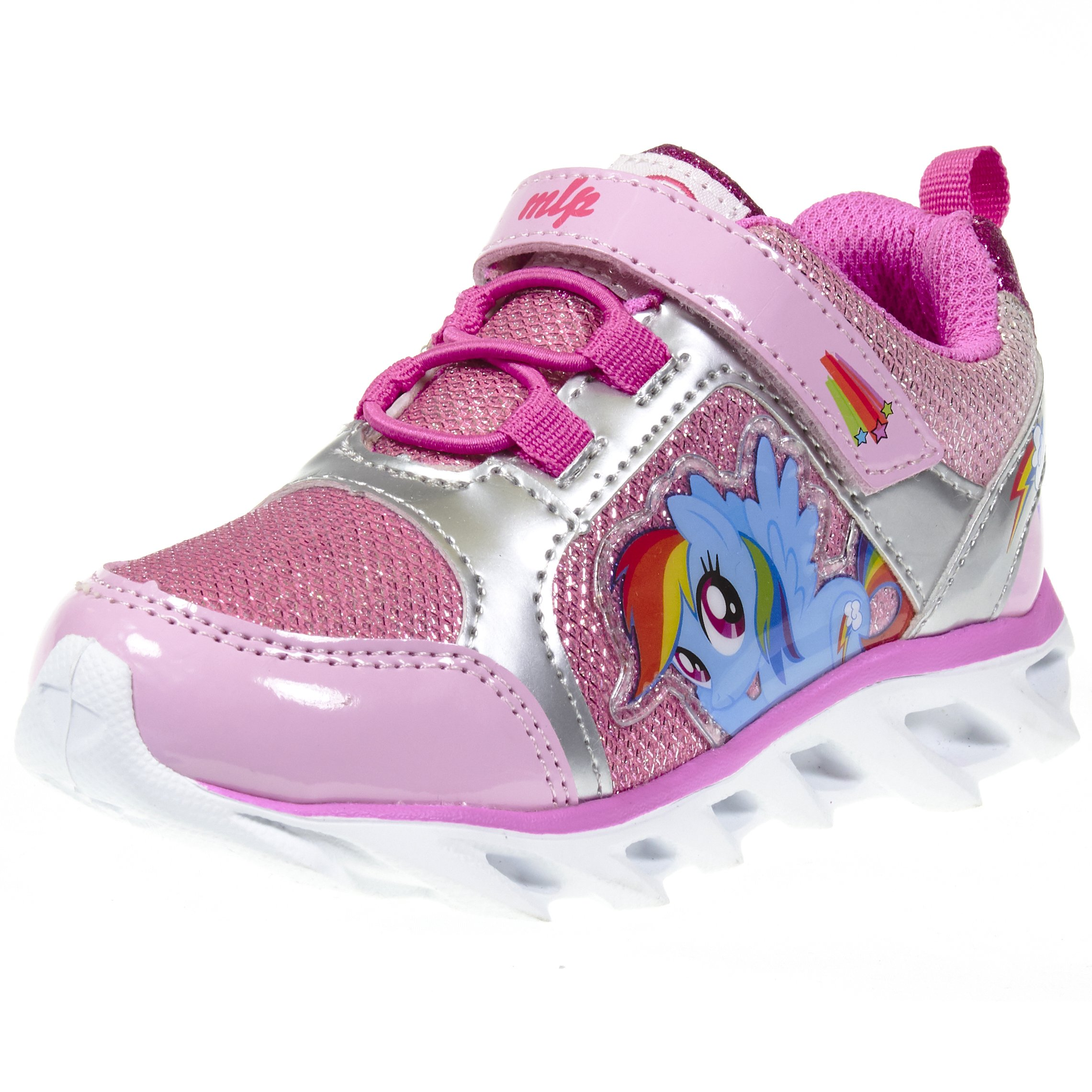 My Little Pony Light up Rainbow Dash Pink Sneakers, 8 US Toddler