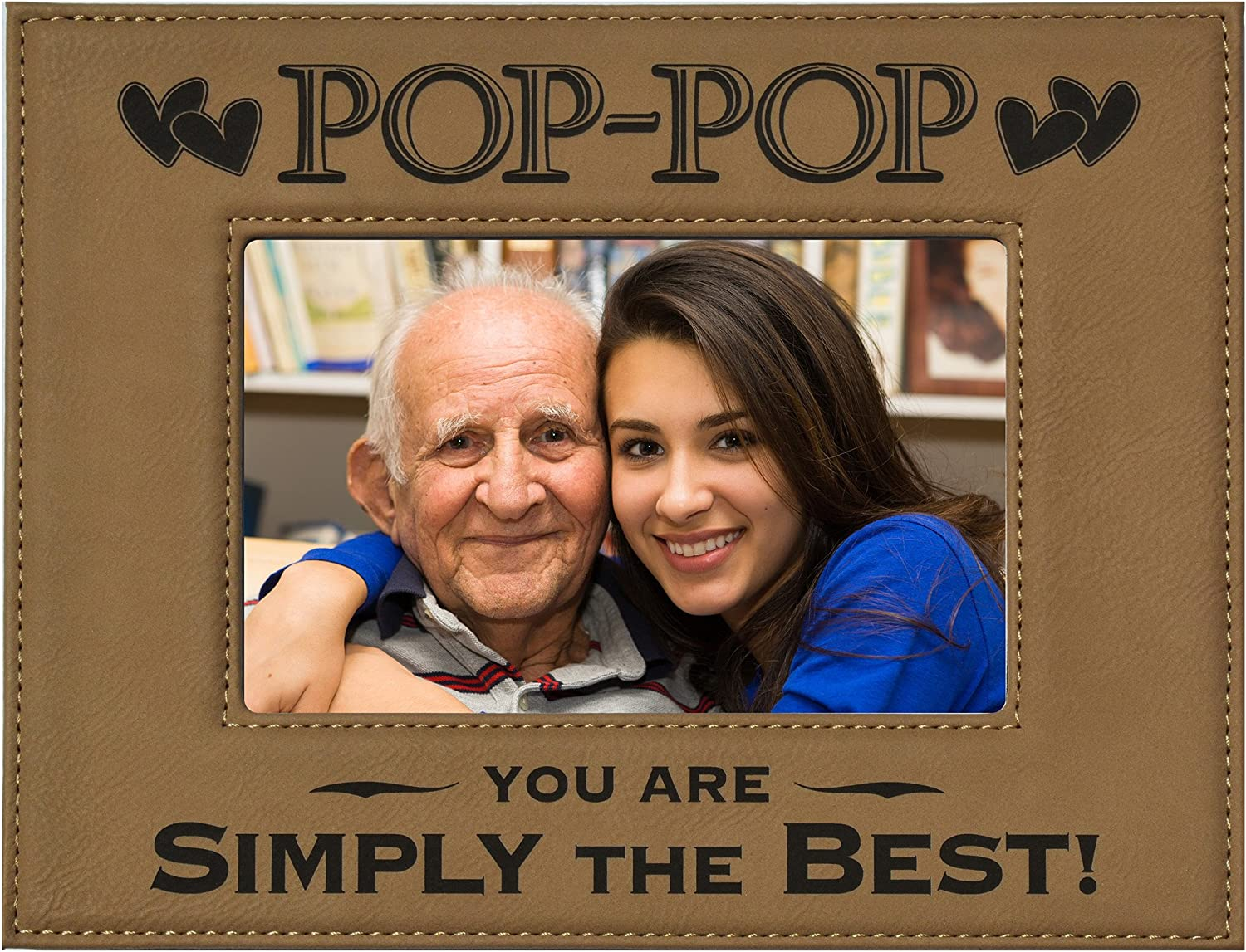 Amazon Com Gk Grand Personal Touch Premium Creations Pop Pop Gift Engraved Leatherette Picture Frame Pop Pop You Are Simply The Best Grandparents Day Gift Papa Birthday Gift Grandpa 4x6 Beige