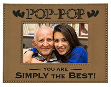 gift pop pop picture frame engraved leatherette picture frame pop pop