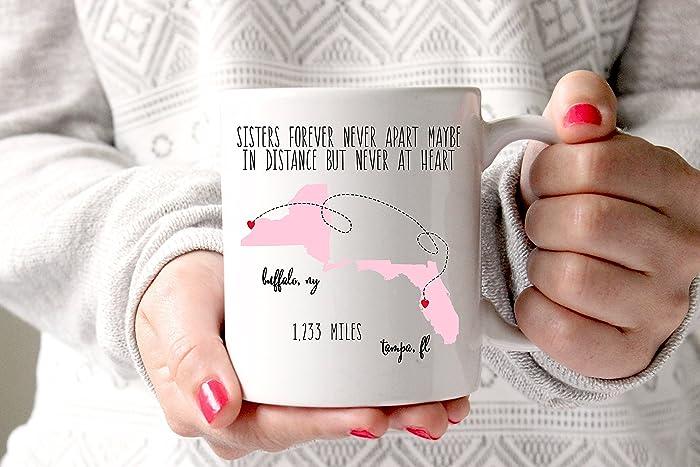 Sisters Coffee Mug Gift For Sister Birthday Long