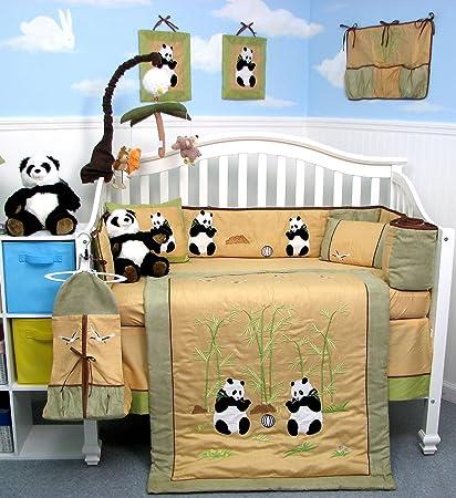 amazon com giant panda bear baby crib nursery bedding set 13 pcs