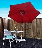 SORARA Sonnenschirm Parasol | Rot | Ø 270 cm | Rund Inti | Polyester 180 g/m² (UV 50+)| Kurbel & Pendel Mechanismus (excl. Base)
