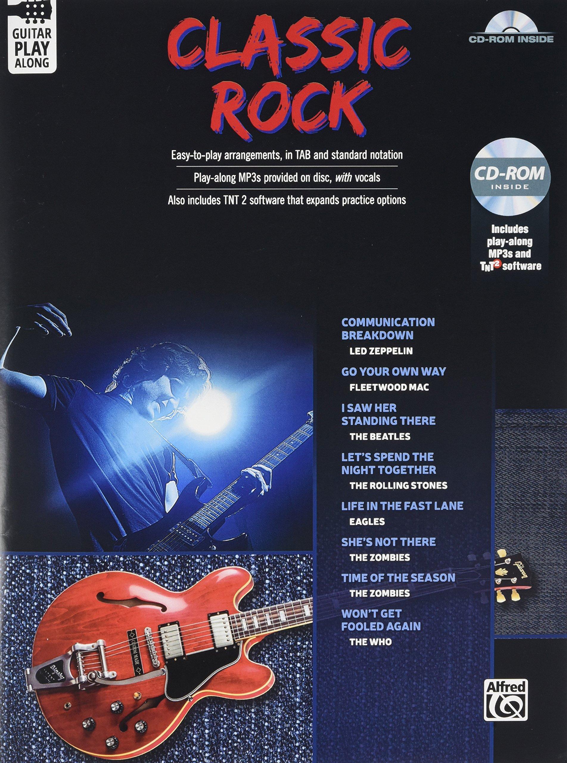 Download Classic Rock Guitar Play-Along: Guitar TAB, Book & CD-ROM pdf